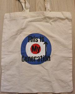 O; Carol sac en tissu peint à la main logo The Who This Is My Generation