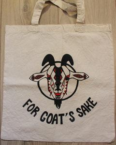 O. Carol customisation de tote bags sacs en tissu For Goat's Sake