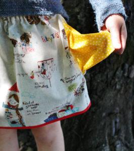 O. Carol jupe motif contes de fées avec poches à pois