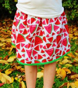 O. Carol jupe motif pastèques coton