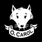 logo O. Carol clothing tête de loup blanc sur fond noir