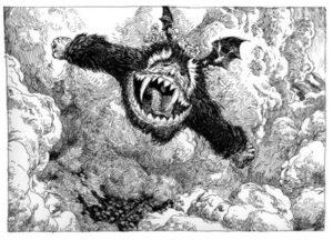 Le Yark de Santini et Gapaillard le Yark vole la nuit de hambre en chambre littérature pour enfant monstre