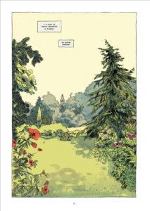 """Planche de la bande dessinée """"Le jardin de minuit"""" par Edith, adapté du roman pour enfants de Philippa Pearce"""