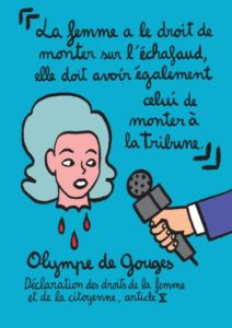 "BD ""Le féminisme en 7 slogans et citations"", Olympe de Gouges citation"