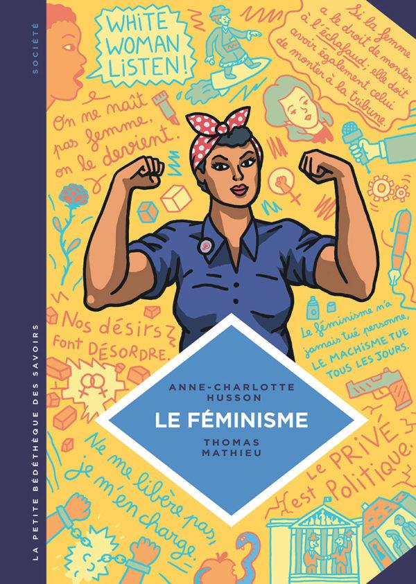 """BD """"Le féminisme en 7 slogans et citations"""", éditions du Lombard. Couverture"""