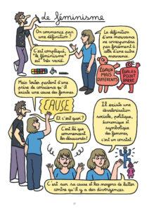 """BD """"le féminisme en 7 slogans et citations"""", Lombard. définition du féminisme"""